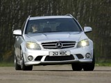 Mercedes-Benz C 63 AMG Estate UK-spec (S204) 2008–11 wallpapers