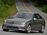 Mercedes-Benz C 300 Sport US-spec (W204) 2010–11 photos