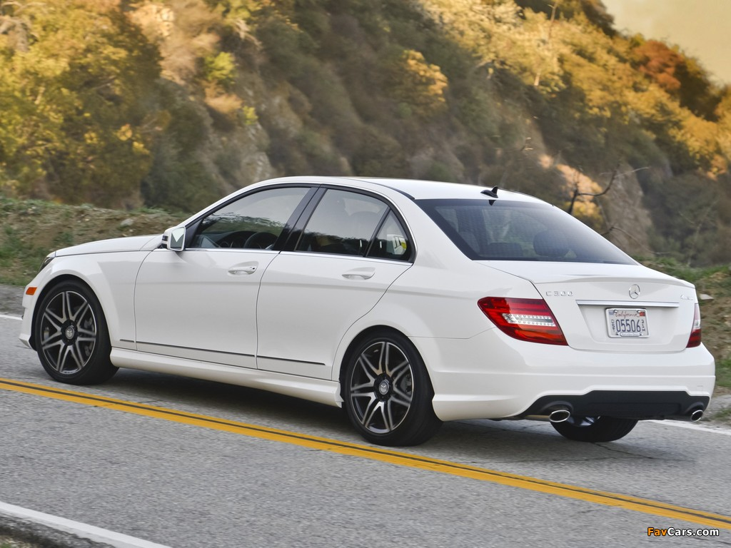Mercedes-Benz C 300 4MATIC AMG Sports Package US-spec (W204) 2011 images (1024 x 768)