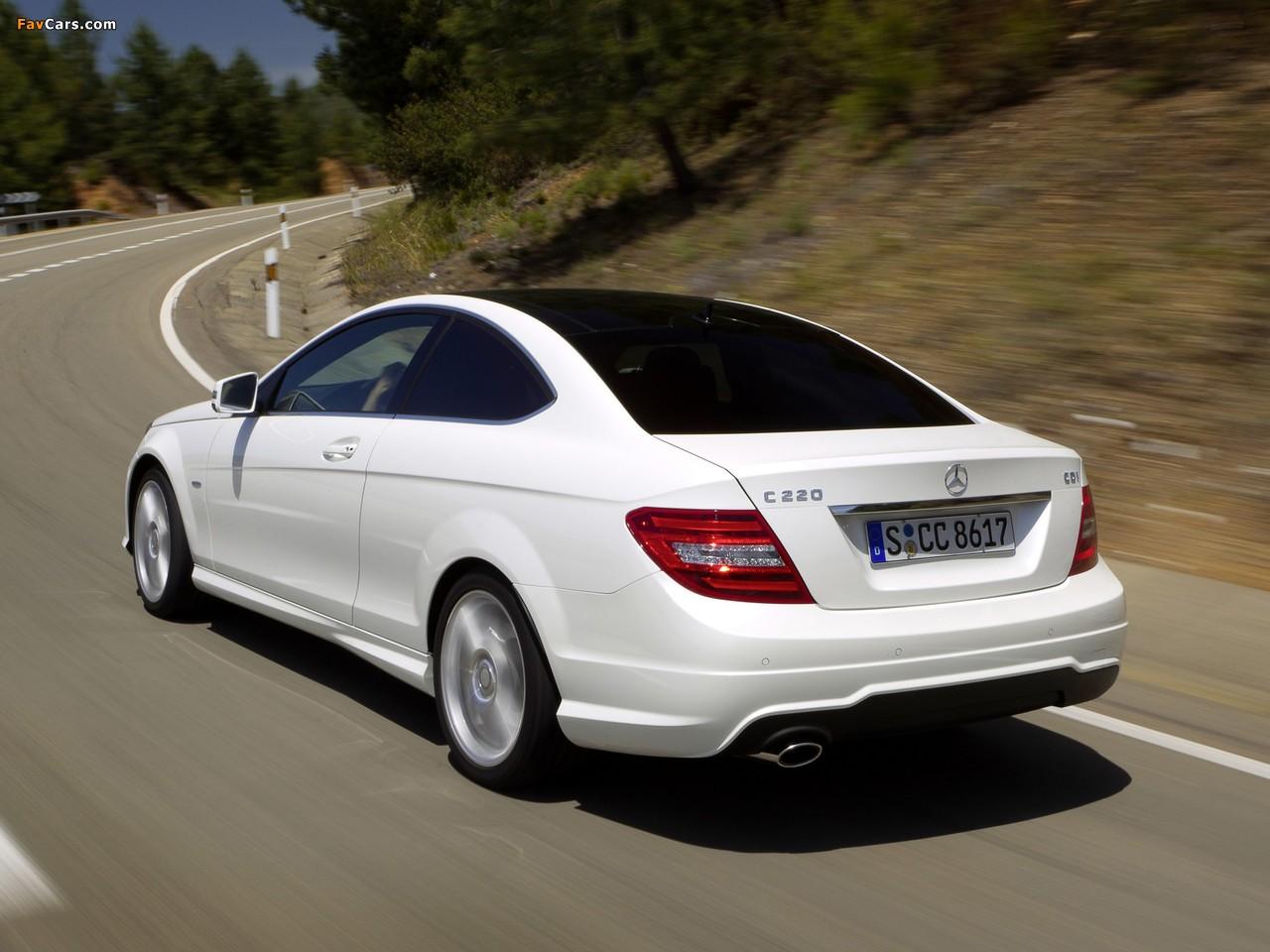 Mercedes-Benz C 220 CDI Coupe (C204) 2011 images (1280 x 960)