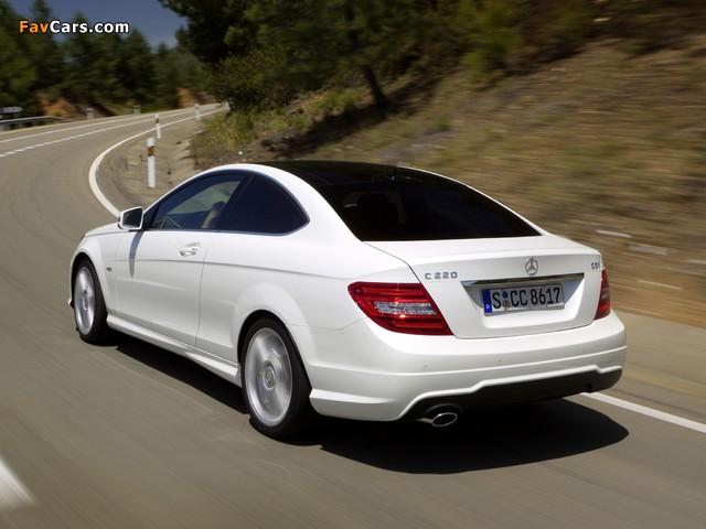Mercedes-Benz C 220 CDI Coupe (C204) 2011 images (640 x 480)