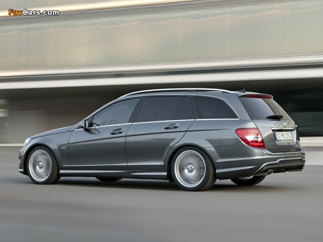 Mercedes-Benz C 350 CDI 4MATIC AMG Sports Package Estate (S204) 2011 images (640 x 480)