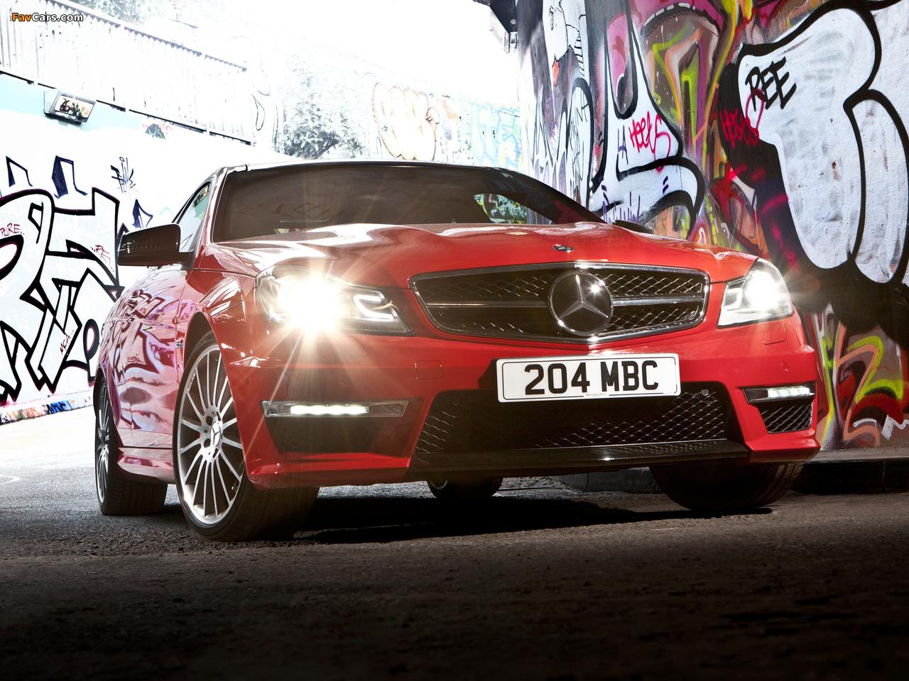 Mercedes-Benz C 63 AMG Coupe UK-spec (C204) 2011 images (1280 x 960)