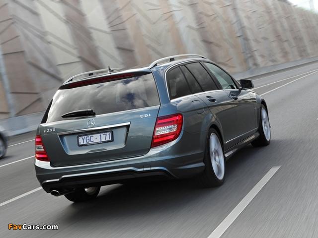 Mercedes-Benz C 250 CDI AMG Sports Package Estate AU-spec (S204) 2011 photos (640 x 480)