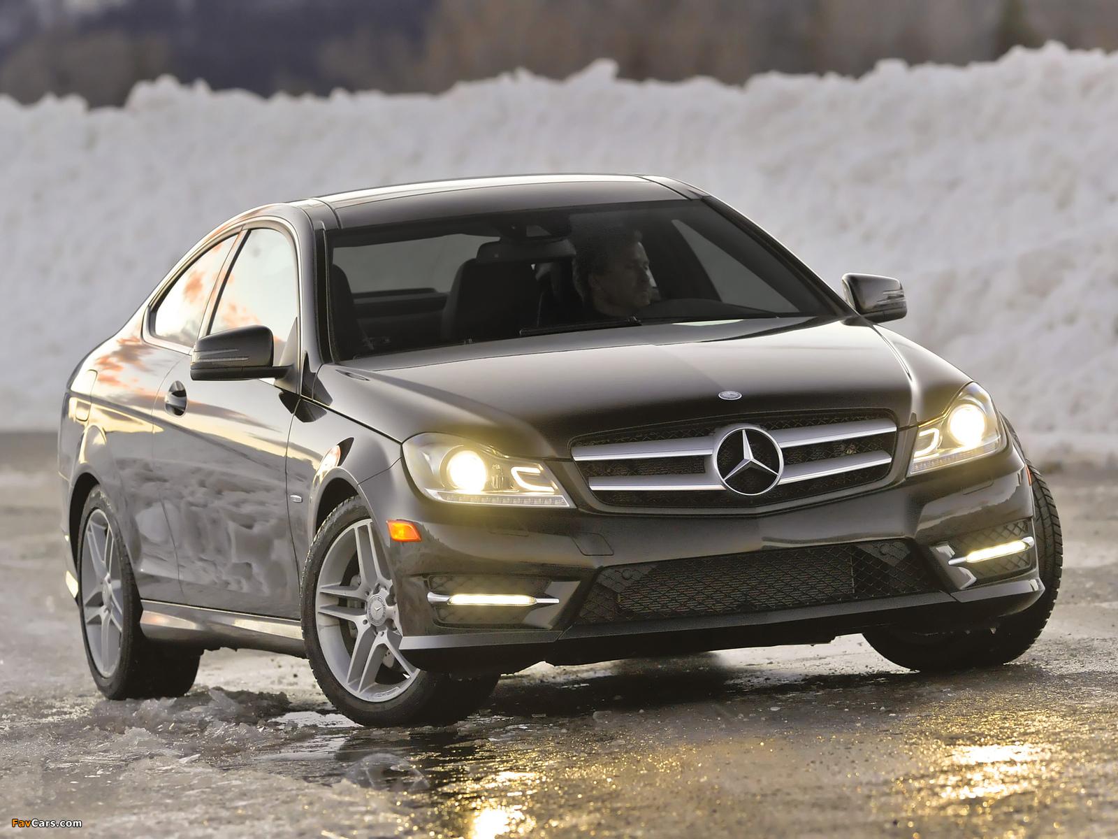 Mercedes-Benz C 350 4MATIC Coupe US-spec (C204) 2011 photos (1600 x 1200)