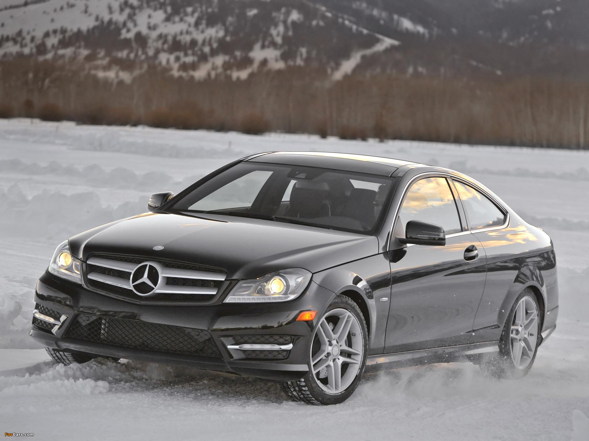 Mercedes-Benz C 350 4MATIC Coupe US-spec (C204) 2011 photos (2048 x 1536)