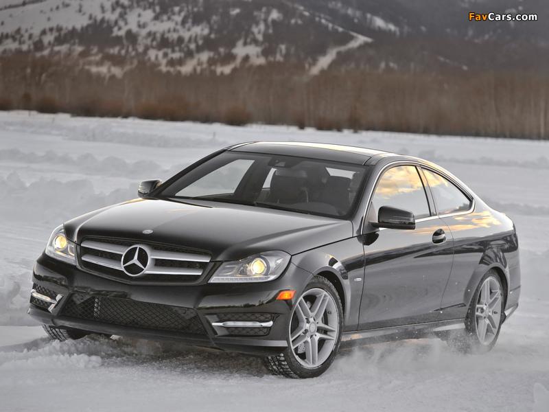 Mercedes-Benz C 350 4MATIC Coupe US-spec (C204) 2011 photos (800 x 600)