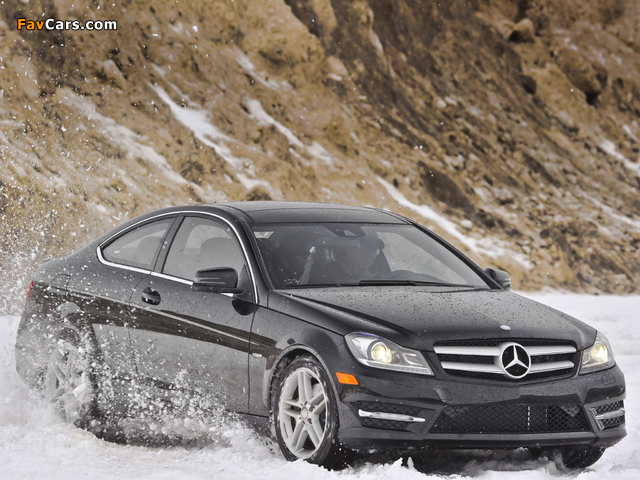 Mercedes-Benz C 350 4MATIC Coupe US-spec (C204) 2011 photos (640 x 480)