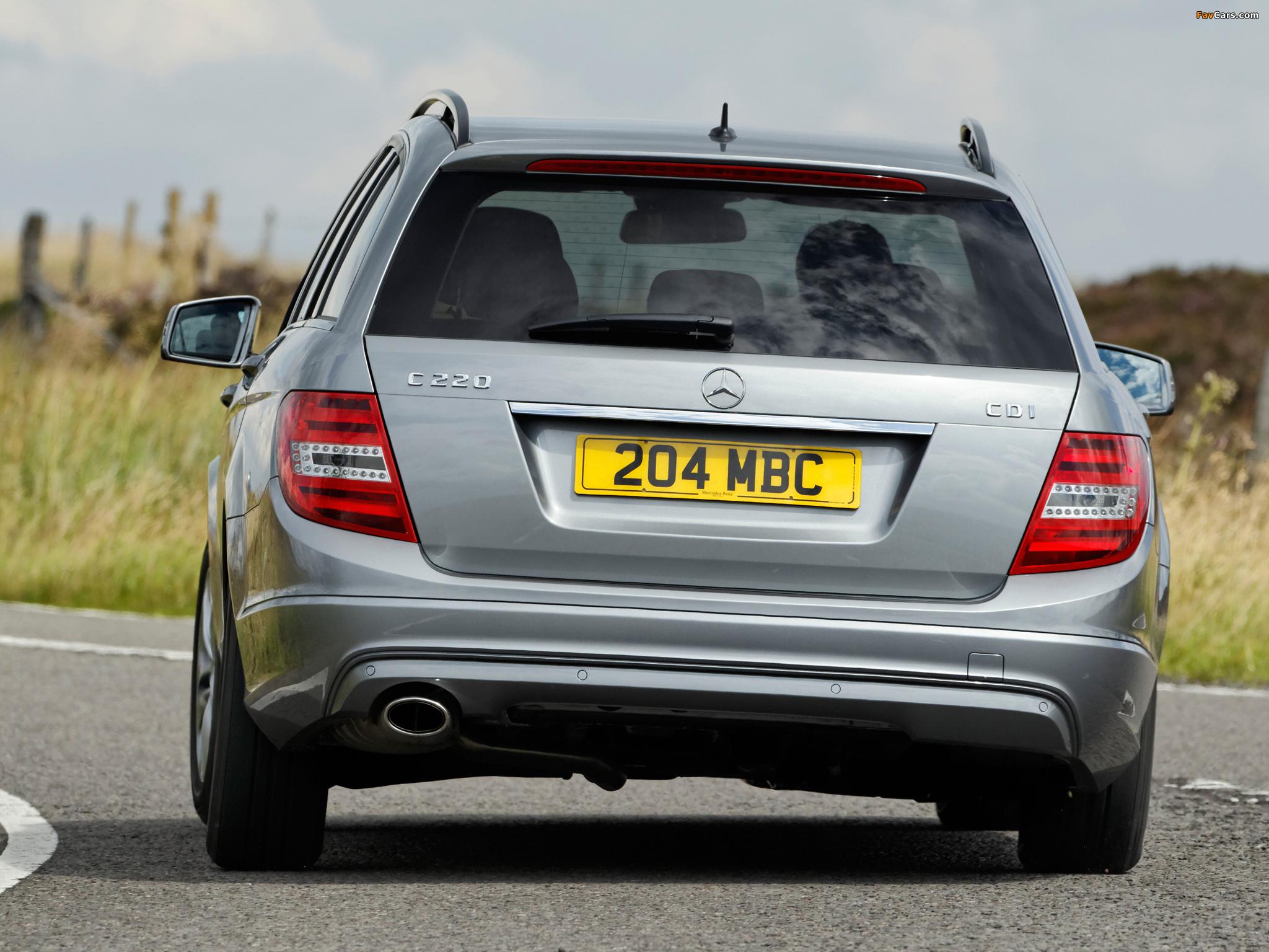Mercedes-Benz C 220 CDI Estate UK-spec (S204) 2011 pictures (2048 x 1536)