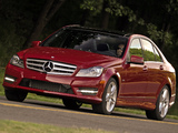 Mercedes-Benz C 350 AMG Sports Package US-spec (W204) 2011 pictures