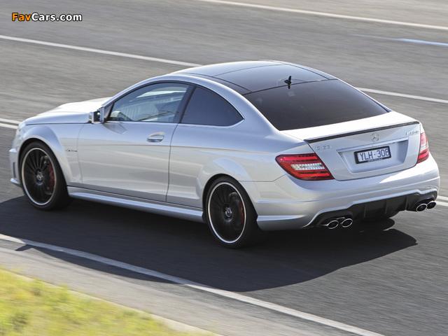 Mercedes-Benz C 63 AMG Coupe AU-spec (C204) 2011 pictures (640 x 480)
