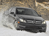 Mercedes-Benz C 350 4MATIC Coupe US-spec (C204) 2011 wallpapers