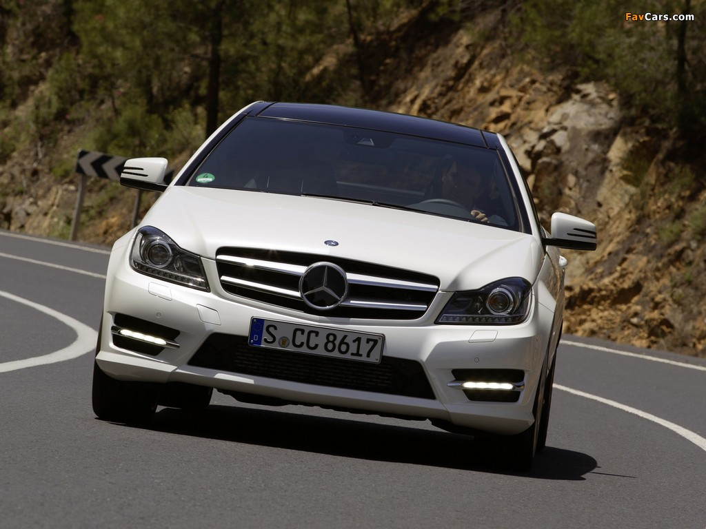 Mercedes-Benz C 220 CDI Coupe (C204) 2011 wallpapers (1024 x 768)