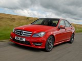 Mercedes-Benz C 220 CDI AMG Sports Package UK-spec (W204) 2011 wallpapers