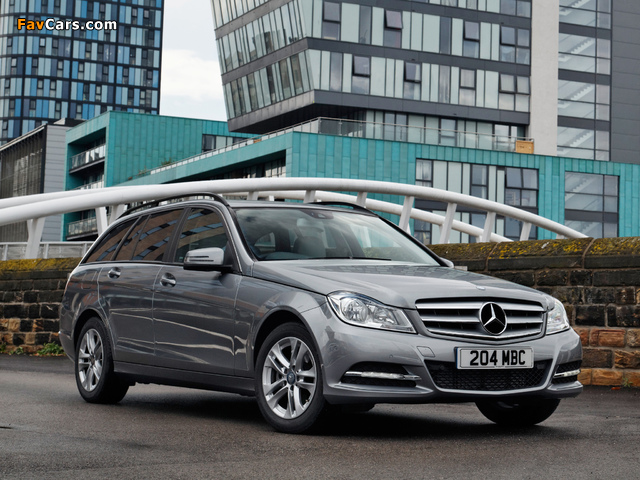 Mercedes-Benz C 220 CDI Estate UK-spec (S204) 2011 wallpapers (640 x 480)