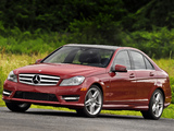 Mercedes-Benz C 350 AMG Sports Package US-spec (W204) 2011 wallpapers