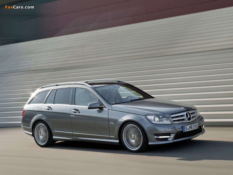 Mercedes-Benz C 350 CDI 4MATIC AMG Sports Package Estate (S204) 2011 wallpapers (800 x 600)