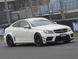 Mercedes-Benz C 63 AMG Black Series Coupe AU-spec (C204) 2012 images