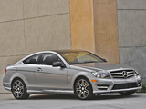 Mercedes-Benz C 250 Coupe Sport US-spec (C204) 2012 images