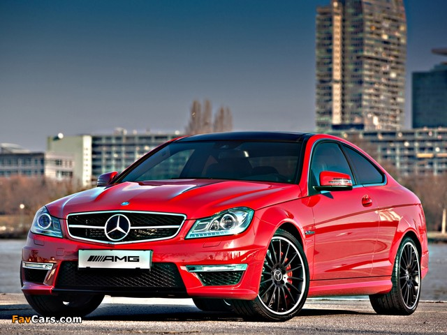 Mercedes-Benz C 63 AMG Coupe Austria Edition (C204) 2012 photos (640 x 480)