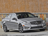 Mercedes-Benz C 250 Coupe Sport US-spec (C204) 2012 pictures