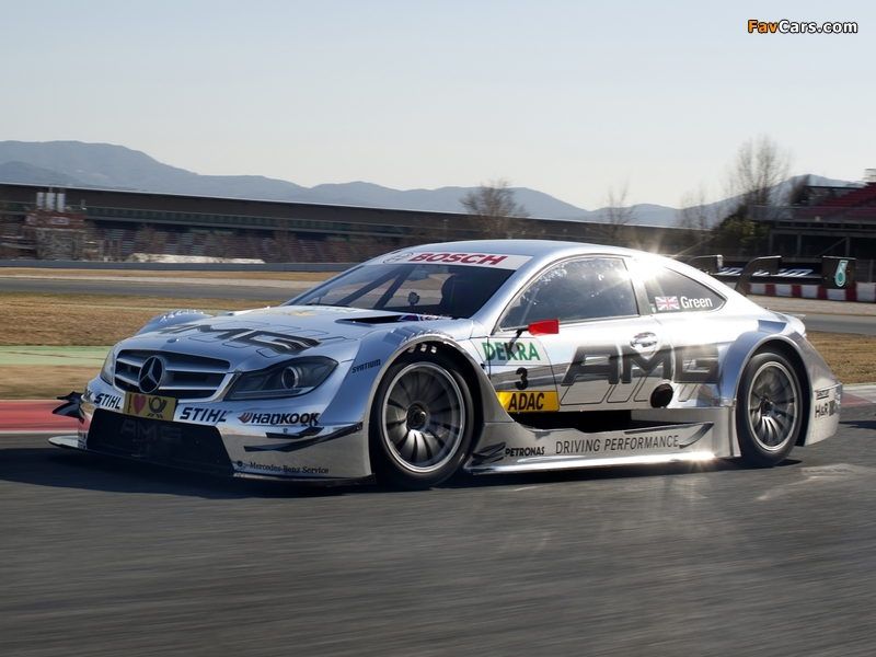 Mercedes-Benz C AMG DTM (C204) 2012 wallpapers (800 x 600)