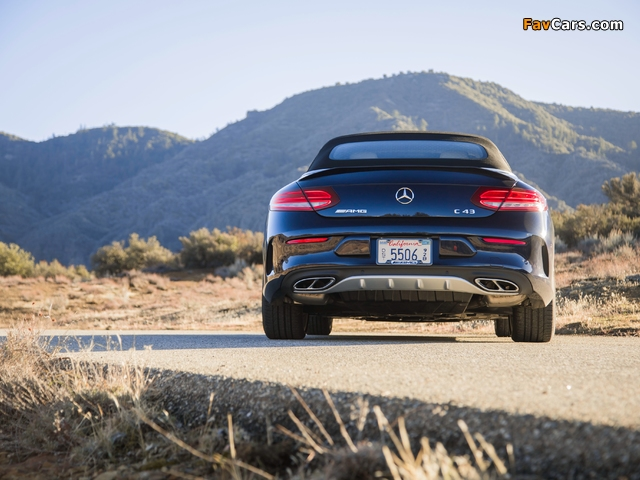 Mercedes-AMG C 43 4MATIC Cabriolet North America (A205) 2016 wallpapers (640 x 480)