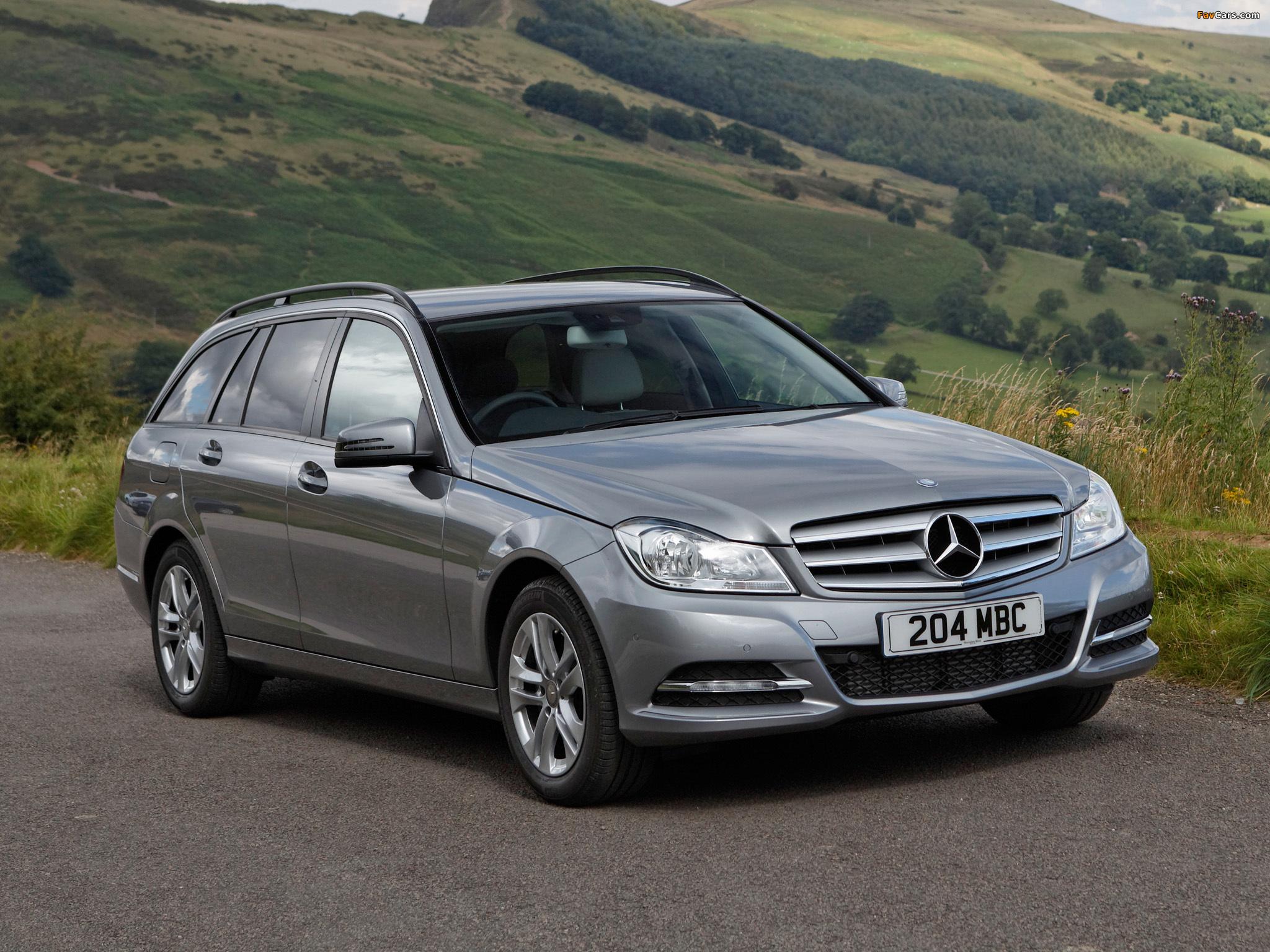 Photos of Mercedes-Benz C 220 CDI Estate UK-spec (S204) 2011 (2048 x 1536)