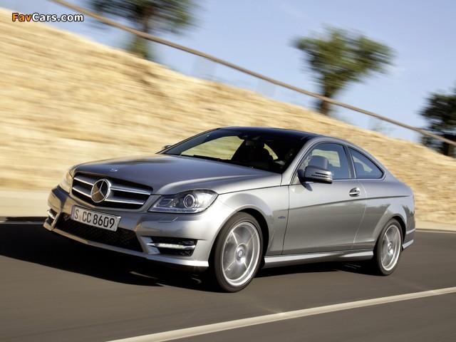 Photos of Mercedes-Benz C 250 Coupe (C204) 2011 (640 x 480)