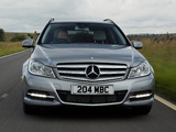 Photos of Mercedes-Benz C 220 CDI Estate UK-spec (S204) 2011
