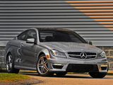 Photos of Mercedes-Benz C 63 AMG Coupe US-spec (C204) 2011