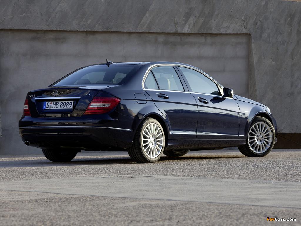 Photos of Mercedes-Benz C 250 CDI BlueEfficiency (W204) 2011 (1024 x 768)