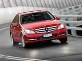 Photos of Mercedes-Benz C 200 AU-spec (W204) 2011