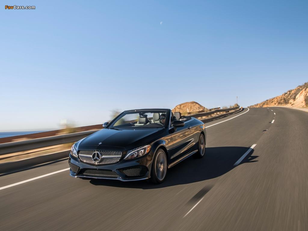 Photos of Mercedes-Benz C 300 4MATIC Cabriolet AMG Line North America (C205) 2016 (1024 x 768)