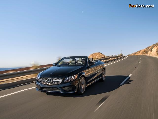 Photos of Mercedes-Benz C 300 4MATIC Cabriolet AMG Line North America (C205) 2016 (640 x 480)