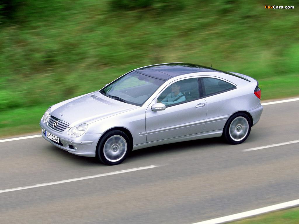 Pictures of Mercedes-Benz C 200 Kompressor Sportcoupe (C203) 2001–05 (1024 x 768)