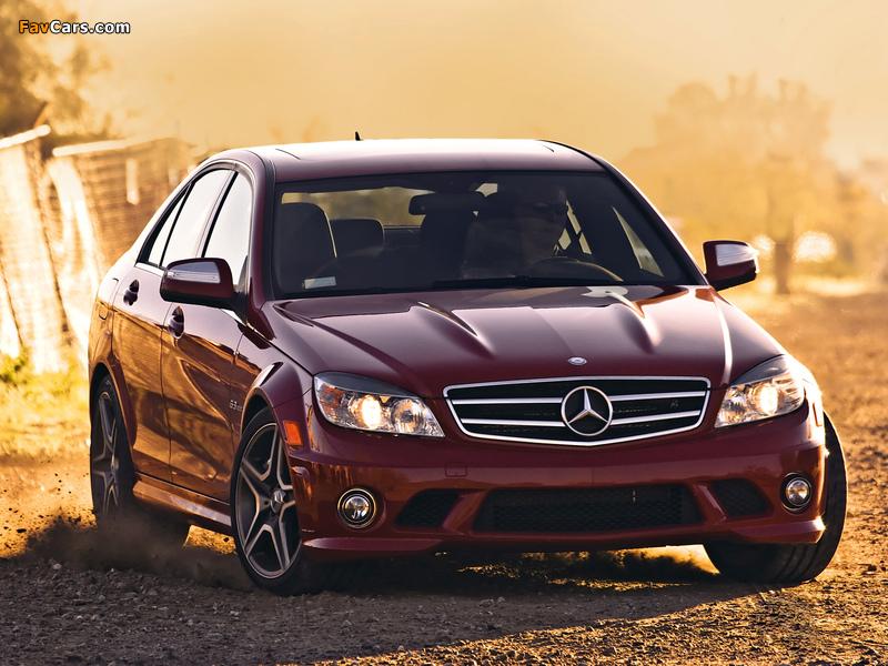 Pictures of Mercedes-Benz C 63 AMG US-spec (W204) 2007–11 (800 x 600)