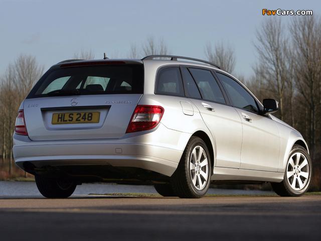 Pictures of Mercedes-Benz C 180 Kompressor Estate UK-spec (S204) 2008–11 (640 x 480)