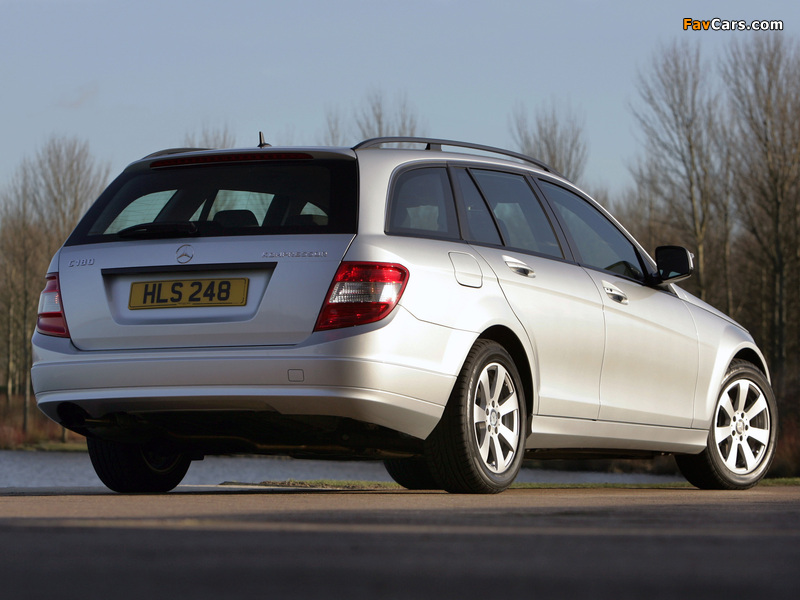 Pictures of Mercedes-Benz C 180 Kompressor Estate UK-spec (S204) 2008–11 (800 x 600)