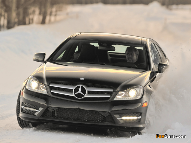 Pictures of Mercedes-Benz C 350 4MATIC Coupe US-spec (C204) 2011 (640 x 480)