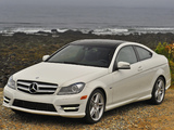 Pictures of Mercedes-Benz C 350 Coupe US-spec (C204) 2011