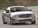 Pictures of Mercedes-Benz C 250 Coupe Sport US-spec (C204) 2012