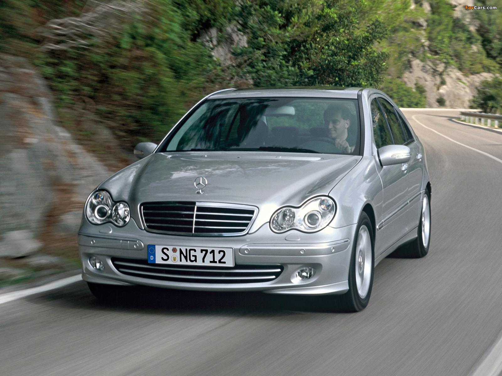 Mercedes-Benz C 350 (W203) 2005–07 wallpapers (1600 x 1200)