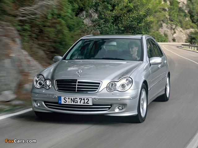 Mercedes-Benz C 350 (W203) 2005–07 wallpapers (640 x 480)