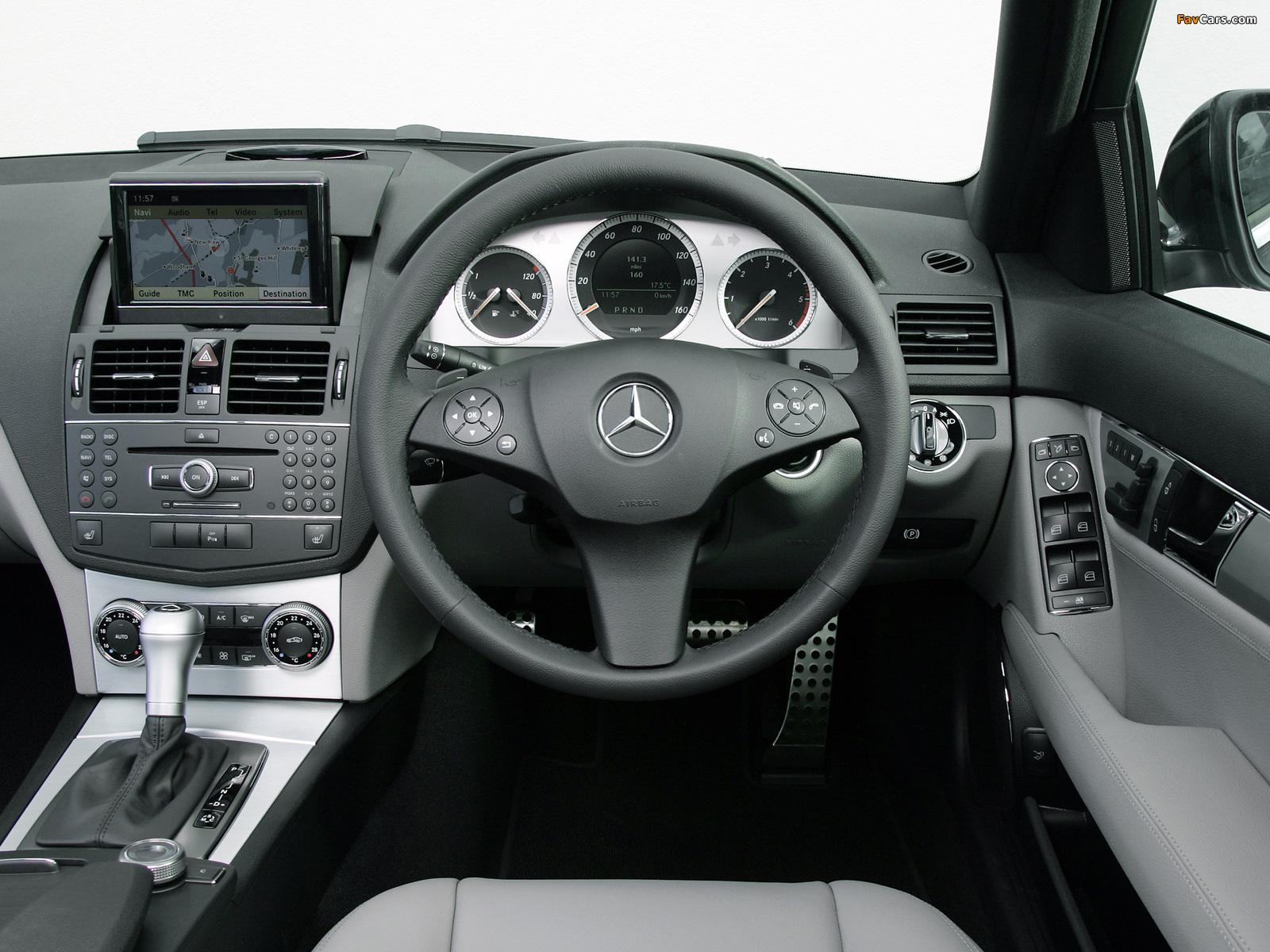 Mercedes-Benz C 220 CDI Sport UK-spec (W204) 2007–11 wallpapers (1600 x 1200)