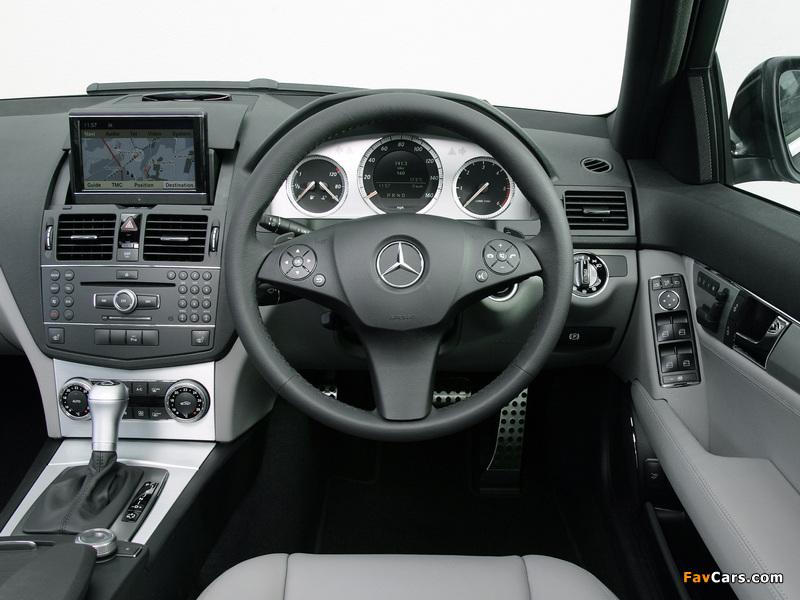Mercedes-Benz C 220 CDI Sport UK-spec (W204) 2007–11 wallpapers (800 x 600)