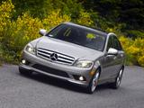 Mercedes-Benz C 300 Sport US-spec (W204) 2007–10 wallpapers