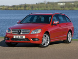 Mercedes-Benz C 220 CDI Sport Estate UK-spec (S204) 2008–11 wallpapers