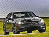 Mercedes-Benz C 63 AMG US-spec (W204) 2011 wallpapers