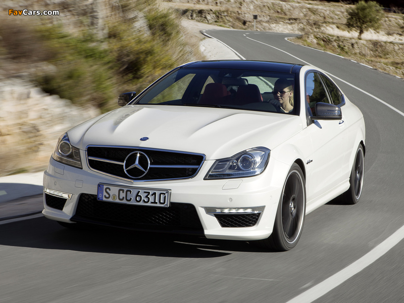Mercedes-Benz C 63 AMG Coupe (C204) 2011 wallpapers (800 x 600)
